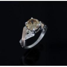 Кольцо женское шампань 0006