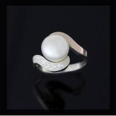 Женское кольцо Лебедь 0028
